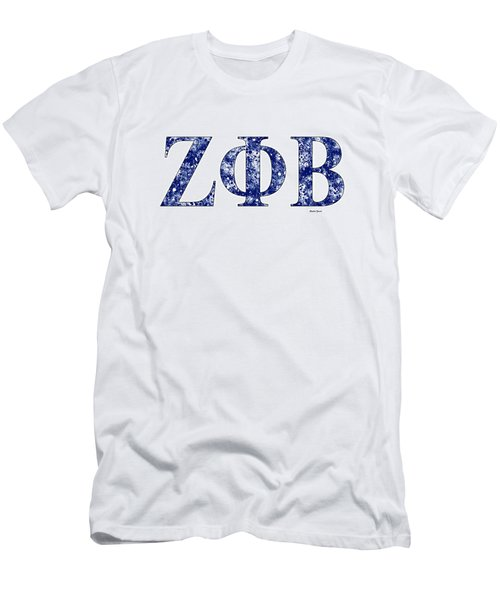 Zeta Phi Beta - White Men's T-Shirt (Athletic Fit)
