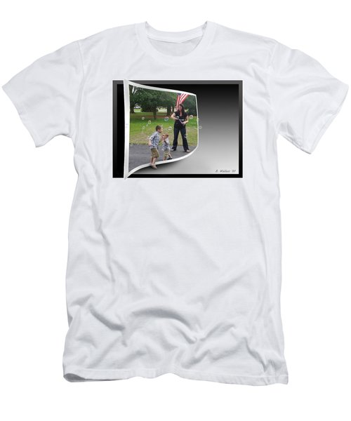 Men's T-Shirt (Slim Fit) featuring the photograph Chasing Bubbles by Brian Wallace