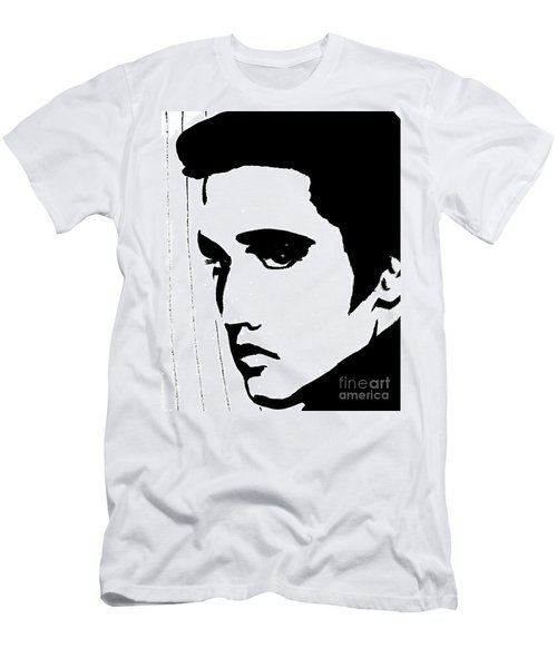 Elvis In Black And White Men's T-Shirt (Athletic Fit)