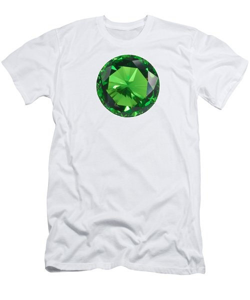 Emerald Isolated Men's T-Shirt (Slim Fit) by Atiketta Sangasaeng