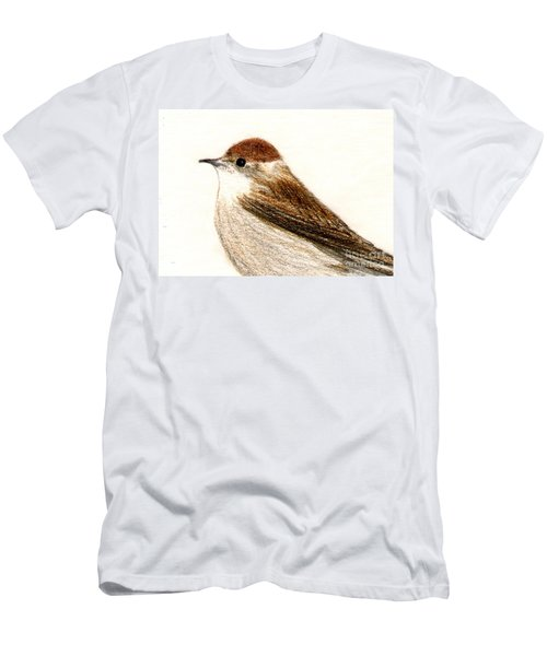 Female Blackcap  Men's T-Shirt (Slim Fit) by Barbara Moignard