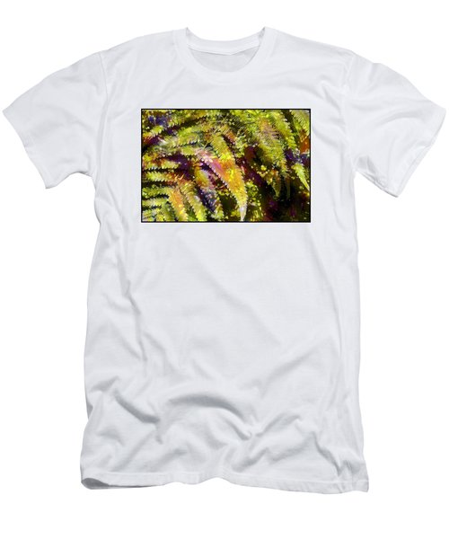 Fern In Dappled Light Men's T-Shirt (Slim Fit) by Judi Bagwell