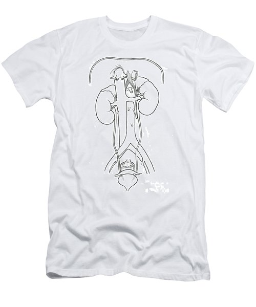 Illustration Of Female Urinary System Men's T-Shirt (Athletic Fit)