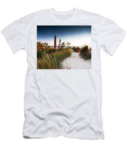 Little Sable Point Light Station Men's T-Shirt (Athletic Fit)