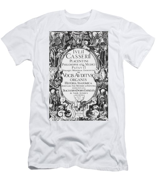 Title Page, Giulio Casserios Anatomy Men's T-Shirt (Athletic Fit)
