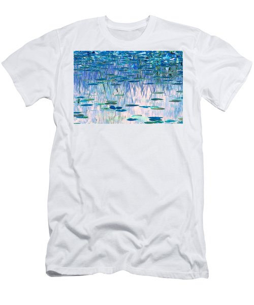Water Lilies Men's T-Shirt (Slim Fit) by Chris Anderson
