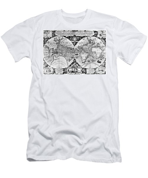 World Map, 16th Century Men's T-Shirt (Athletic Fit)