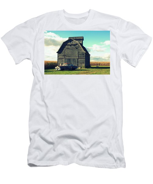 1950 Cadillac Barn Cornfield Men's T-Shirt (Slim Fit) by Lyle Hatch