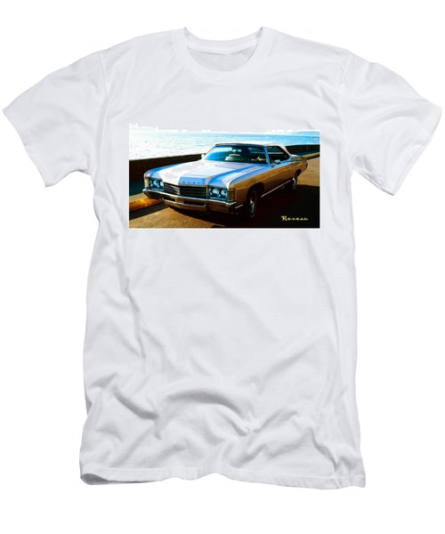 Men's T-Shirt (Slim Fit) featuring the photograph 1971 Chevrolet Impala Convertible by Sadie Reneau