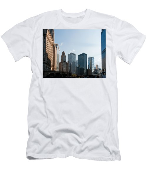 Chicago City Center Men's T-Shirt (Slim Fit) by Carol Ailles