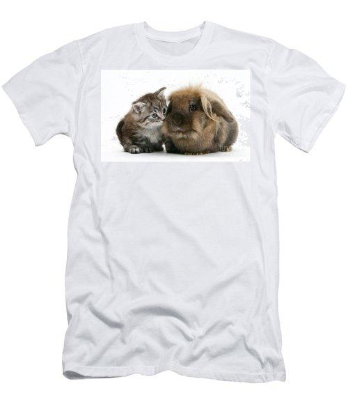 Kitten And Rabbit Men's T-Shirt (Athletic Fit)