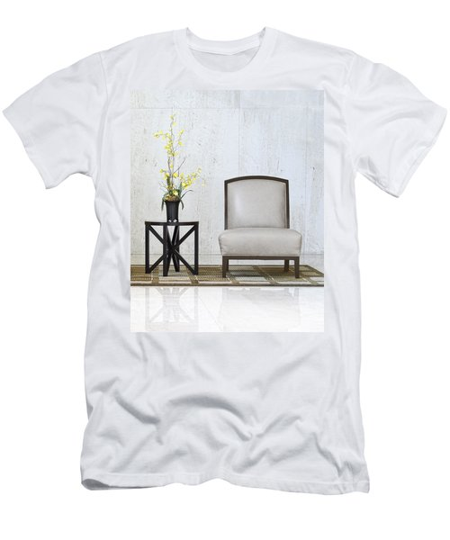 A Chair And A Table With A Plant  Men's T-Shirt (Athletic Fit)