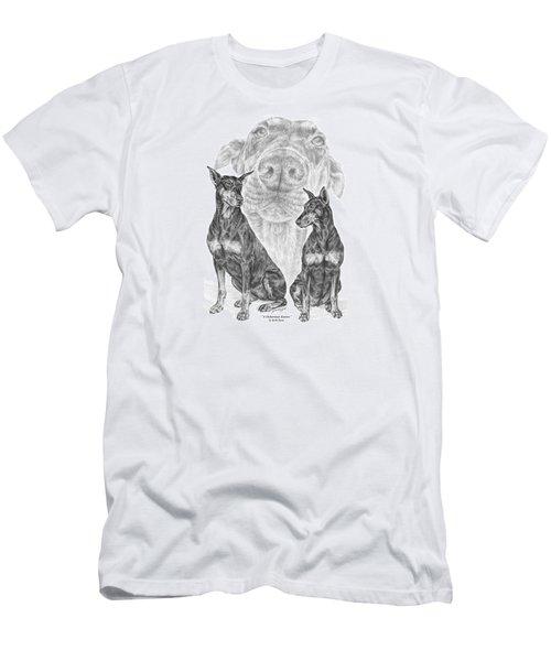 A Doberman Knows - Dobe Pinscher Art Print Men's T-Shirt (Athletic Fit)
