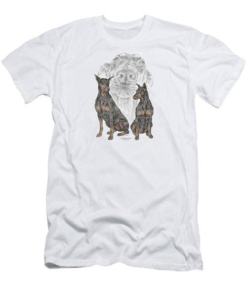 A Doberman Knows - Dobe Pinscher Dog Art Print Men's T-Shirt (Athletic Fit)