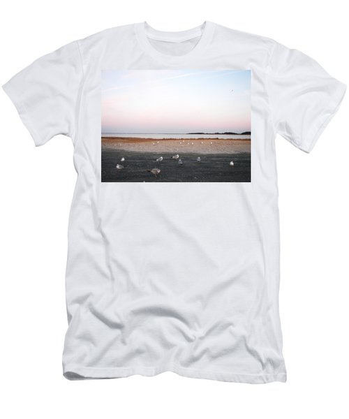 Men's T-Shirt (Slim Fit) featuring the photograph A Gathering On Rehoboth Bay by Pamela Hyde Wilson