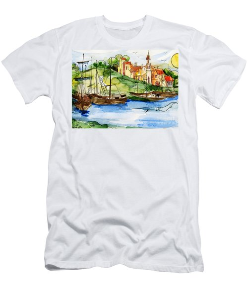 A Little Fisherman's Village Men's T-Shirt (Slim Fit)