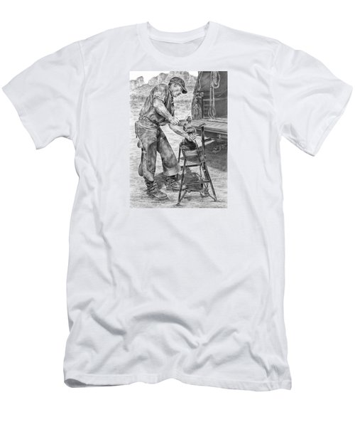 A Man And His Trade - Farrier Art Print Men's T-Shirt (Athletic Fit)