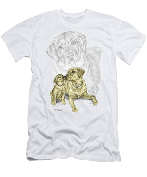 A Mothers Love - Labrador Dog Print Color Tinted Men's T-Shirt (Athletic Fit)
