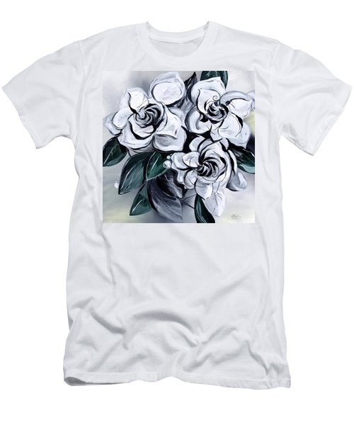 Abstract Gardenias Men's T-Shirt (Athletic Fit)