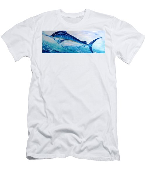 Abstract Marlin Men's T-Shirt (Athletic Fit)