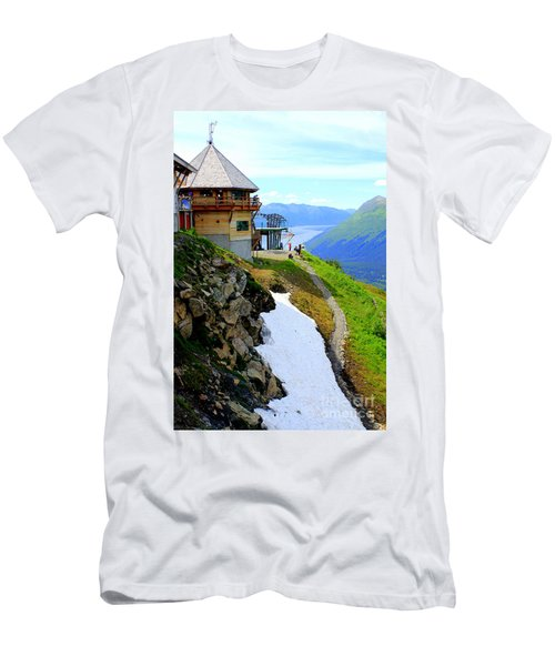 Men's T-Shirt (Slim Fit) featuring the photograph Alyeska Ski Resort Alaska by Kathy  White