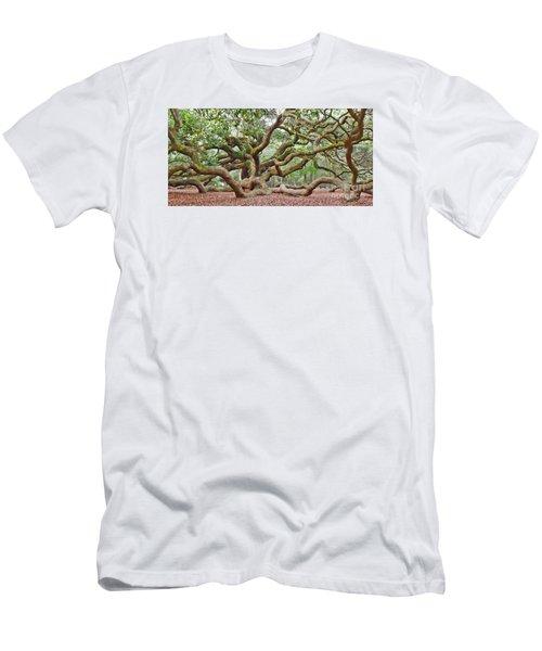 Angel Oak Men's T-Shirt (Slim Fit) by Val Miller