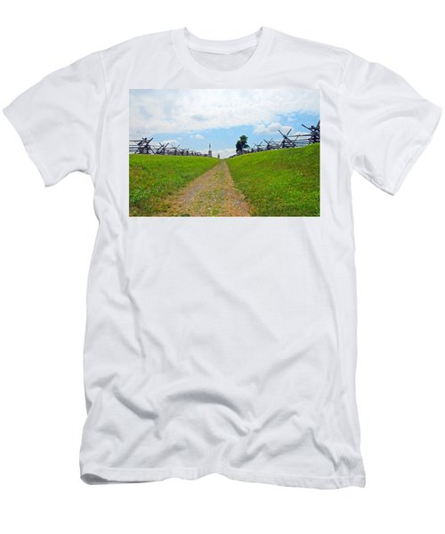 Men's T-Shirt (Slim Fit) featuring the photograph Antietam Battle Of Bloody Lane by Cindy Manero