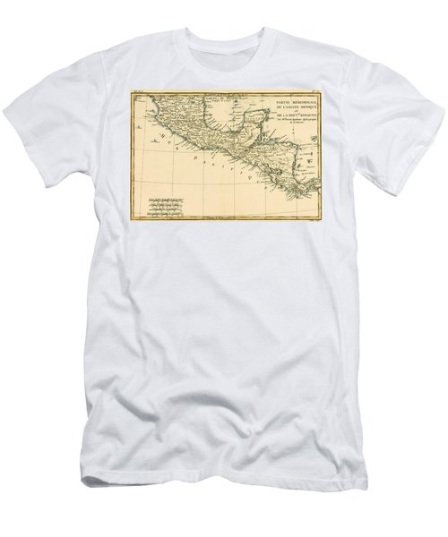 Antique Map Of Southern Mexico Men's T-Shirt (Athletic Fit)