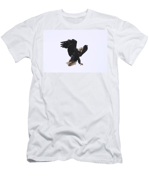 Bald Eagle Tallons Open Men's T-Shirt (Slim Fit) by Kym Backland