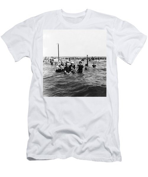 Bathing In The Gulf Of Mexico - Galveston Texas  C 1914 Men's T-Shirt (Athletic Fit)