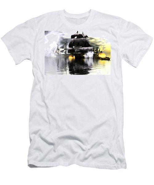 Men's T-Shirt (Slim Fit) featuring the digital art Battle Smoke by Claude McCoy