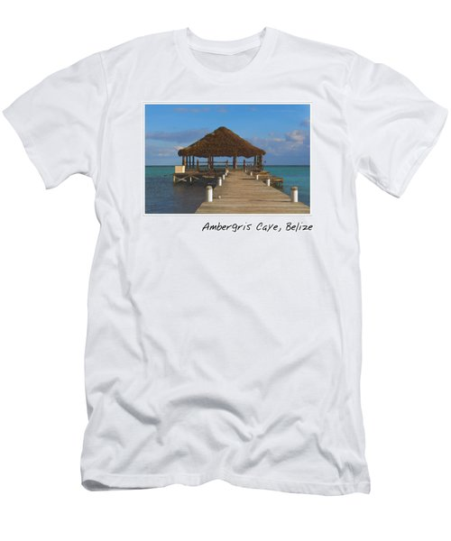 Beach Deck With Palapa Floating In The Water Men's T-Shirt (Athletic Fit)