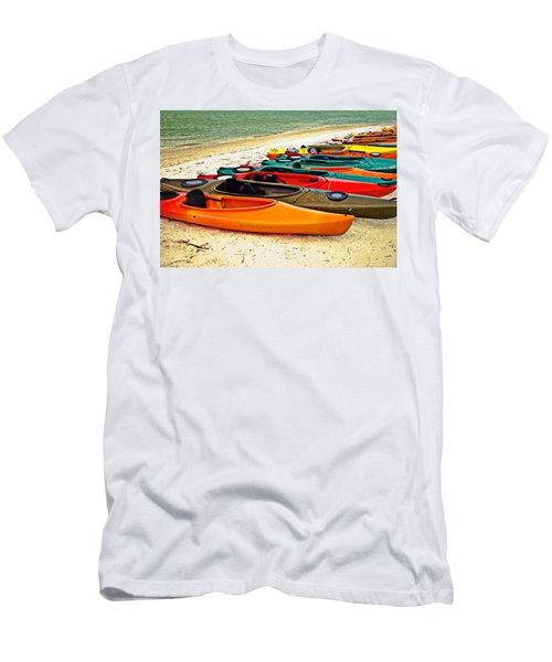 Beach Kayaks Men's T-Shirt (Athletic Fit)