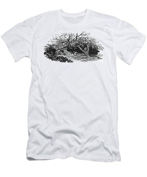 Bewick: Man Drowning Men's T-Shirt (Athletic Fit)