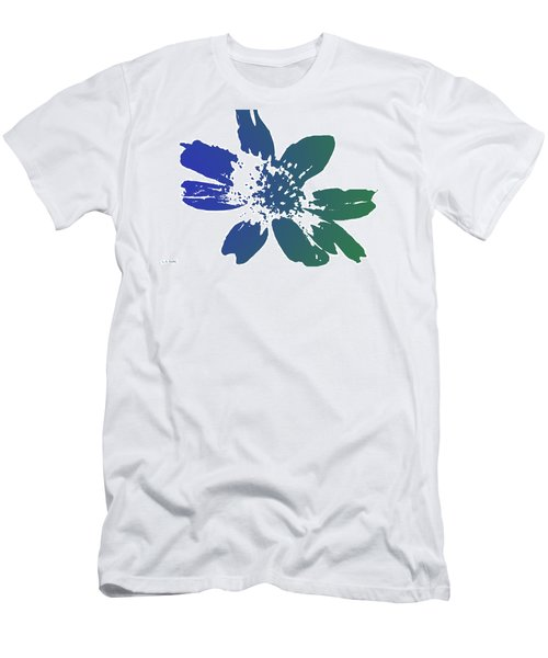 Blue In Bloom Men's T-Shirt (Athletic Fit)
