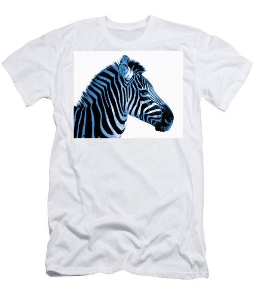 Men's T-Shirt (Slim Fit) featuring the photograph Blue Zebra Art by Rebecca Margraf