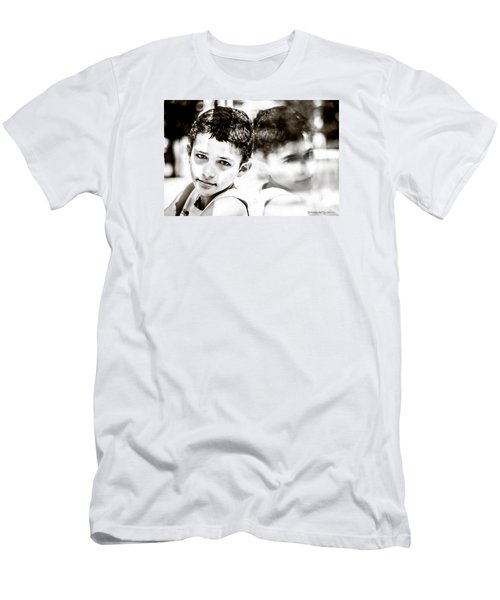 Men's T-Shirt (Athletic Fit) featuring the photograph Blurred Thoughts by Stwayne Keubrick