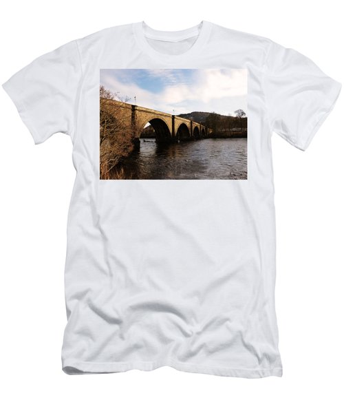 Men's T-Shirt (Slim Fit) featuring the photograph Bridge Across River Tay by Lynn Bolt