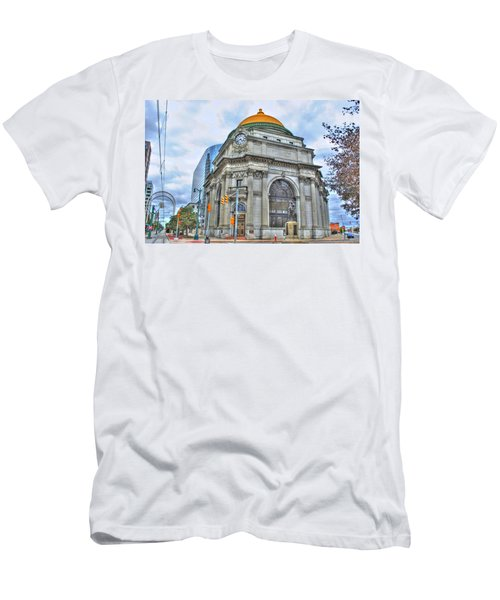 Men's T-Shirt (Slim Fit) featuring the photograph Buffalo Savings Bank  Goldome  M And T Bank Branch by Michael Frank Jr