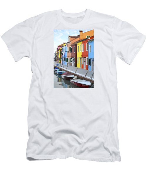 Men's T-Shirt (Slim Fit) featuring the photograph Burano Italy 2 by Rebecca Margraf
