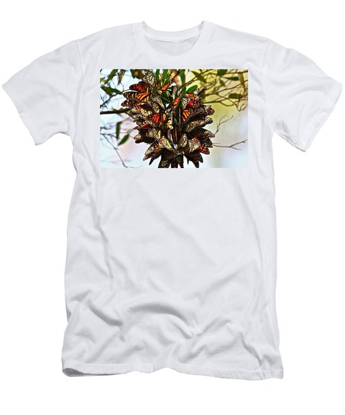 Butterfly Bouquet Men's T-Shirt (Athletic Fit)