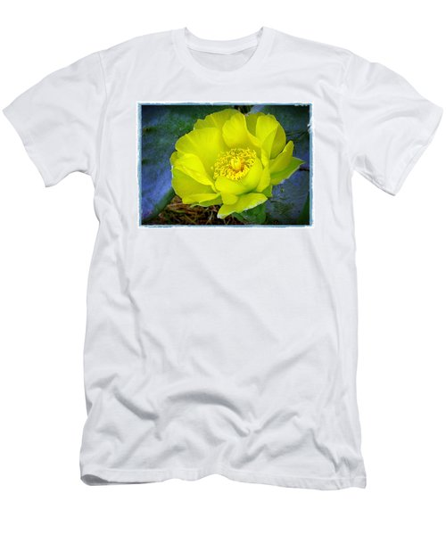 Men's T-Shirt (Slim Fit) featuring the photograph Cactus Flower by Judi Bagwell