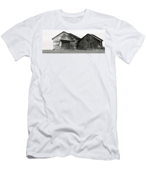 Men's T-Shirt (Slim Fit) featuring the photograph Canadian Barns by Jerry Fornarotto