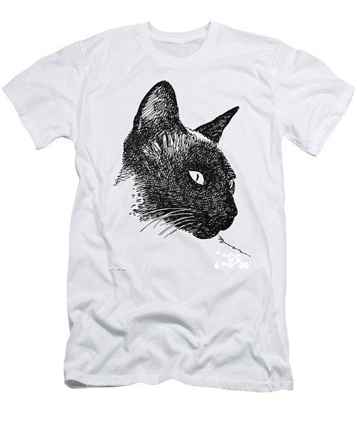 Cat Drawings 5 Men's T-Shirt (Athletic Fit)