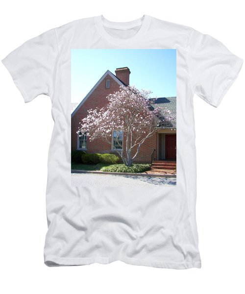 Men's T-Shirt (Slim Fit) featuring the photograph Cherry Blossom by Pamela Hyde Wilson