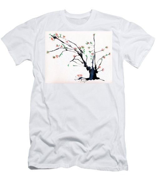 Cherry Tree By Straw Men's T-Shirt (Athletic Fit)