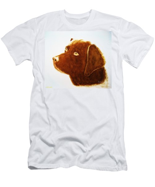 Chocolate Labrador  Men's T-Shirt (Athletic Fit)