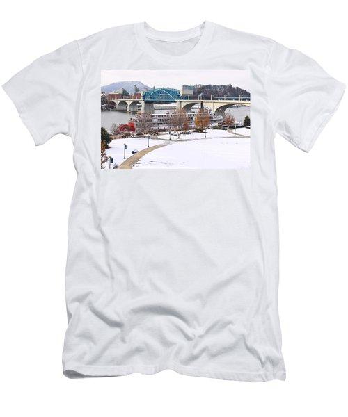 Christmas Snow Men's T-Shirt (Athletic Fit)
