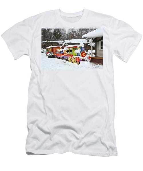Christmas Train Men's T-Shirt (Athletic Fit)