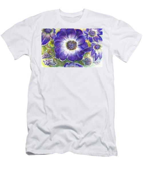 Cineraria Of South Africa  Men's T-Shirt (Slim Fit) by Bernadette Krupa